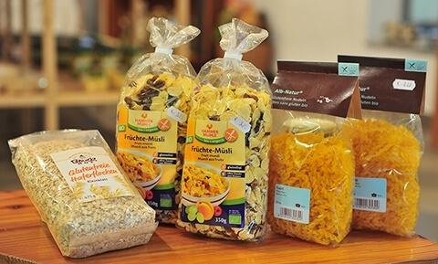Glutenfreie Bioprodukte
